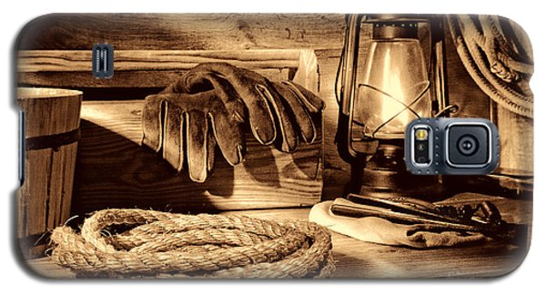 Rope And Tools In A Barn Galaxy S5 Case