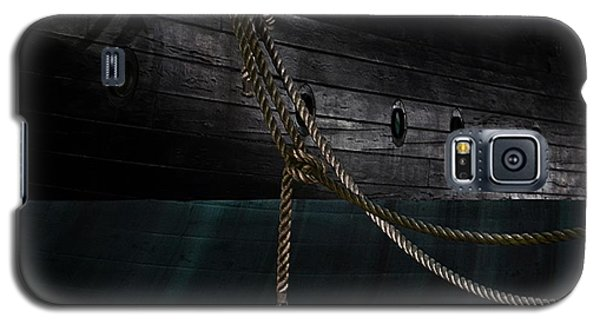 Ropes On The Uss Constellation Navy Ship Galaxy S5 Case