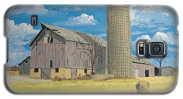 Galaxy S5 Case featuring the painting Rorabeck Barn by Norm Starks