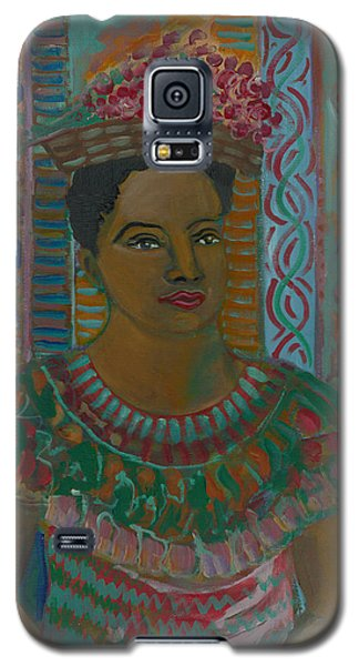 Galaxy S5 Case featuring the painting Rosa by John Keaton