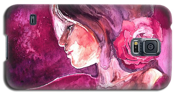 Galaxy S5 Case featuring the painting Rosa by Ragen Mendenhall