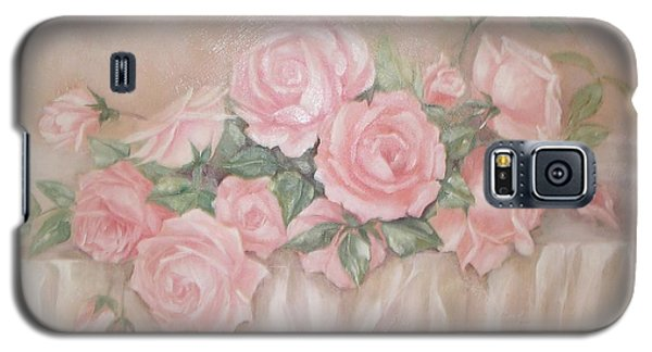 Rose Abundance Painting Galaxy S5 Case by Chris Hobel