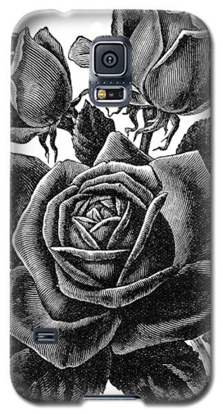 Rose Black Galaxy S5 Case