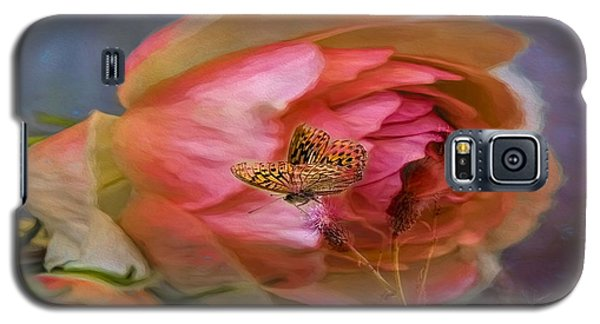 Rose Buttefly Galaxy S5 Case
