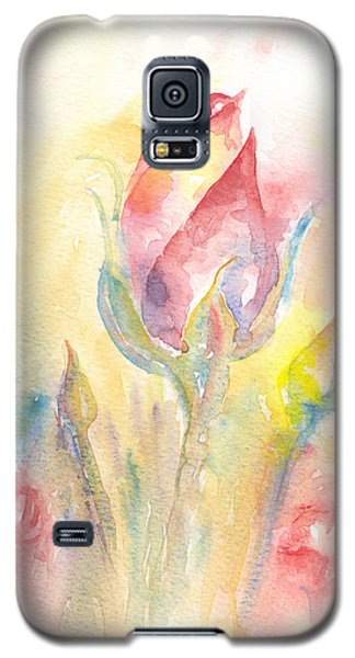 Galaxy S5 Case featuring the painting Rose Garden Two by Elizabeth Lock