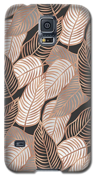 Rose Gold Jungle Leaves Galaxy S5 Case