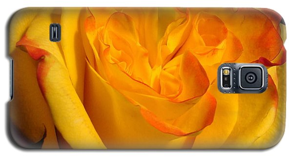 Galaxy S5 Case featuring the photograph Rose Heart by Margaret Bobb