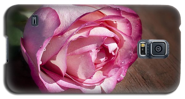 Rose On Wood Galaxy S5 Case