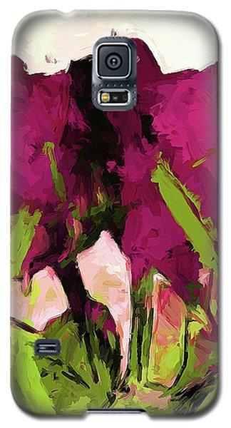 Rose Romantica Magenta Green Galaxy S5 Case