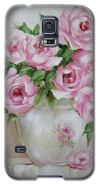 Galaxy S5 Case featuring the painting Rose Vase by Chris Hobel