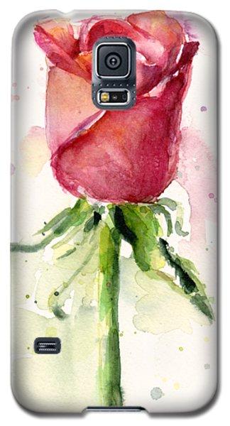 Rose Watercolor Galaxy S5 Case by Olga Shvartsur