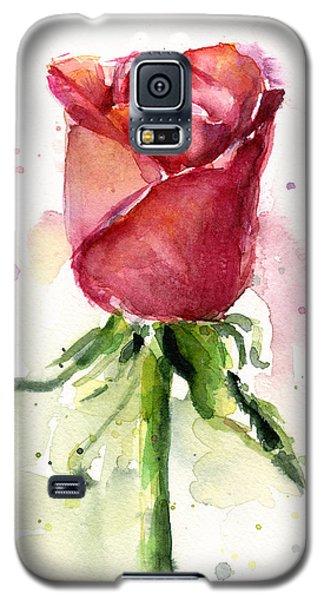 Rose Watercolor Galaxy S5 Case