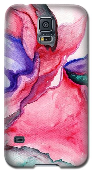 Galaxy S5 Case featuring the painting Rose Wave by Vonda Lawson-Rosa