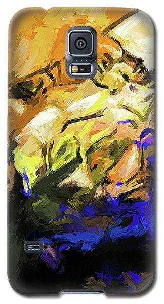 Rose White Cobalt Blue Galaxy S5 Case