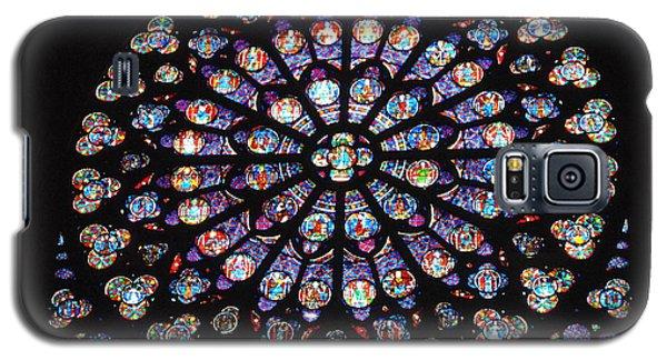 Rose Window Of Notre Dame Paris Galaxy S5 Case by Jacqueline M Lewis