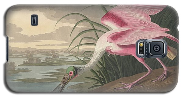 Roseate Spoonbill, 1836  Galaxy S5 Case by John James Audubon