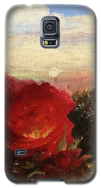 Galaxy S5 Case featuring the painting Rosebush by Mary Ellen Frazee