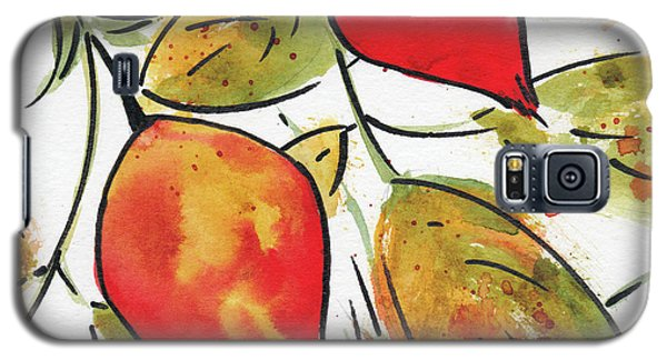Galaxy S5 Case featuring the painting Rosehips In Autumn by Pat Katz