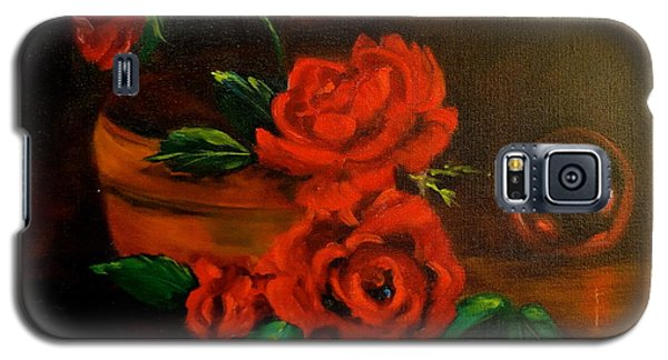 Galaxy S5 Case featuring the painting Roses Are Red by Jenny Lee