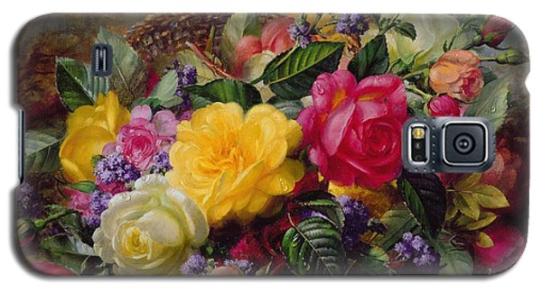 Roses By A Pond On A Grassy Bank  Galaxy S5 Case by Albert Williams