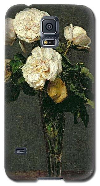 Still Life Galaxy S5 Case - Roses In A Champagne Flute by Ignace Henri Jean Fantin-Latour