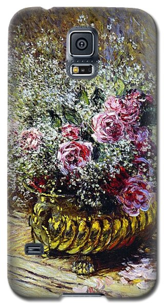 Roses In A Copper Vase Galaxy S5 Case by Claude Monet
