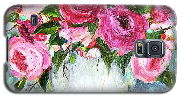 Galaxy S5 Case featuring the painting Roses In Vase by Jennifer Beaudet