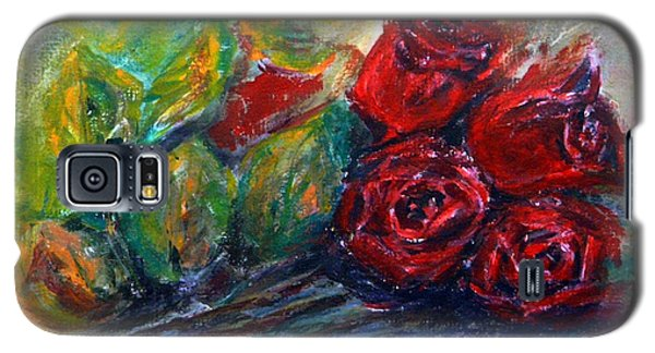 Galaxy S5 Case featuring the painting Roses by Jasna Dragun