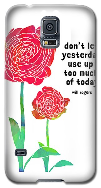 Galaxy S5 Case featuring the painting Roses by Lisa Weedn