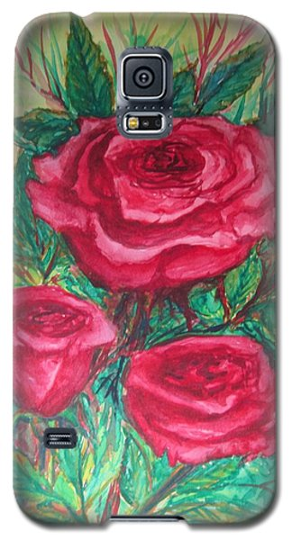 Roses Three Galaxy S5 Case by Cathy Long