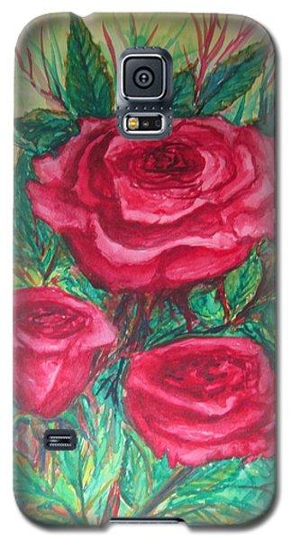 Roses Three Galaxy S5 Case