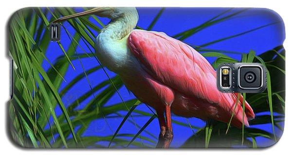 Galaxy S5 Case featuring the painting Rosetta Spoonbill Alligator Farm by Deborah Benoit