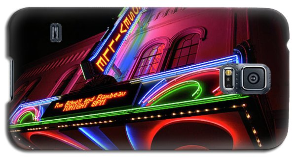 Roseville Theater Neon Sign Galaxy S5 Case by Melany Sarafis
