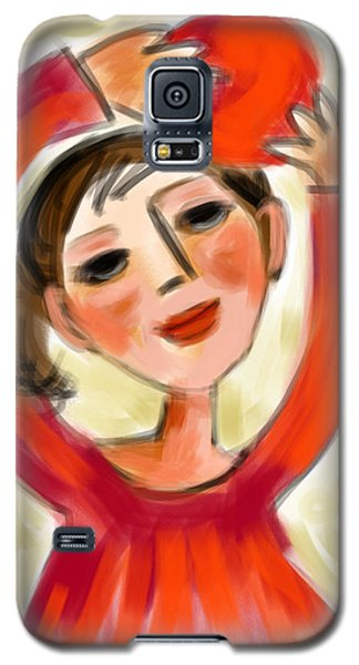 Galaxy S5 Case featuring the digital art Rosie Red  by Elaine Lanoue