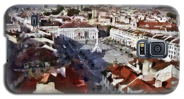 Galaxy S5 Case featuring the photograph Rossio Square by Dariusz Gudowicz