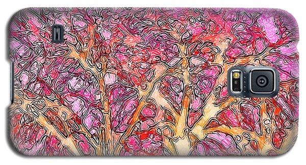 Galaxy S5 Case featuring the digital art Rosy Hued Trees - Boulder County Colorado by Joel Bruce Wallach