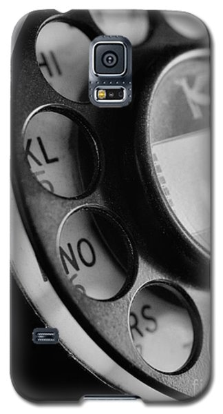 Rotary Dial In Black And White Galaxy S5 Case by Mark Miller