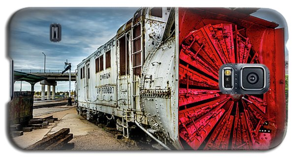 Galaxy S5 Case featuring the photograph Rotary Snow Plow Vintage Train - Utah by Gary Whitton