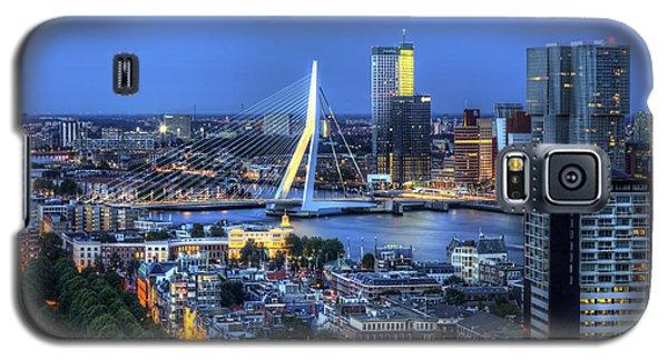 Rotterdam Skyline With Erasmus Bridge Galaxy S5 Case by Shawn Everhart