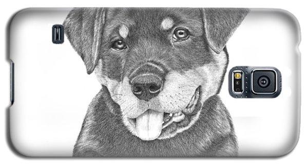 Rottweiler Puppy- Chloe Galaxy S5 Case by Patricia Hiltz