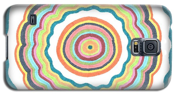Galaxy S5 Case featuring the drawing Round And Round by Jill Lenzmeier