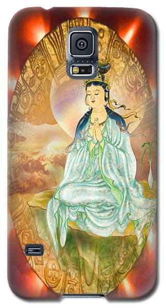 Round Halo Kuan Yin Galaxy S5 Case by Lanjee Chee