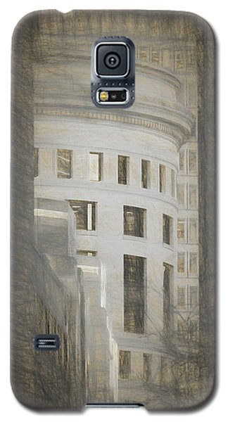 Round In A Square World Galaxy S5 Case