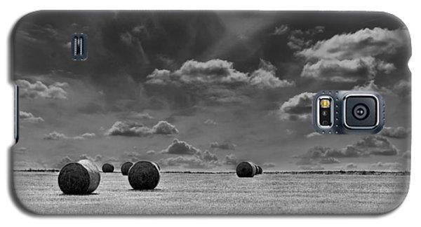 Round Straw Bales Landscape Galaxy S5 Case