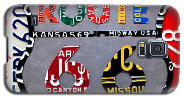 Car Galaxy S5 Case - Route 66 Highway Road Sign License Plate Art by Design Turnpike