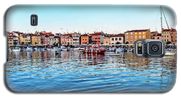 Rovinj Harbor And Boats Panorama Galaxy S5 Case