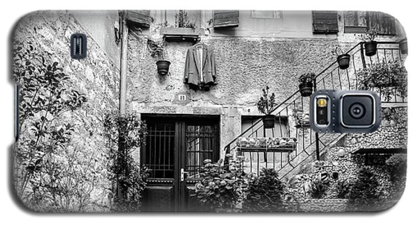 Rovinj Old Town Courtyard In Black And White, Rovinj Croatia Galaxy S5 Case
