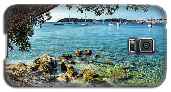 Rovinj Old Town, Harbor And Sailboats Accross The Adriatic Through The Trees Galaxy S5 Case