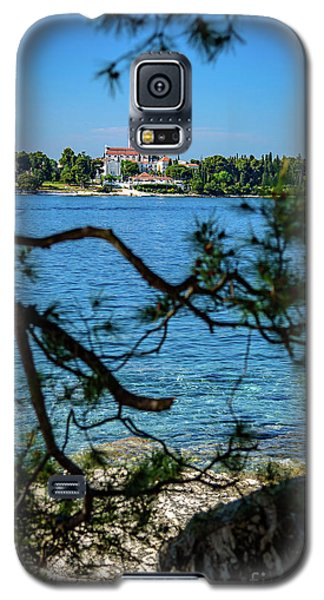 Rovinj Seaside Through The Adriatic Trees, Istria, Croatia Galaxy S5 Case