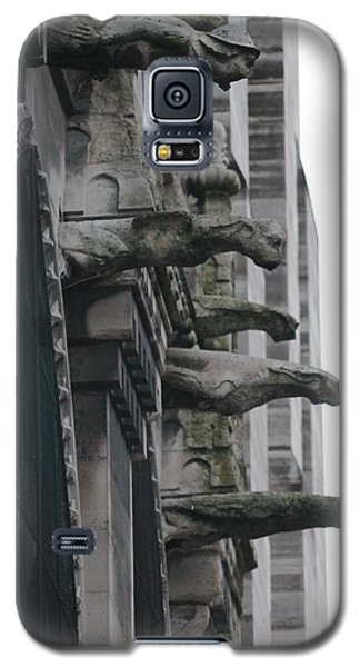 Galaxy S5 Case featuring the photograph Row Of Gargoyles by Christopher Kirby
